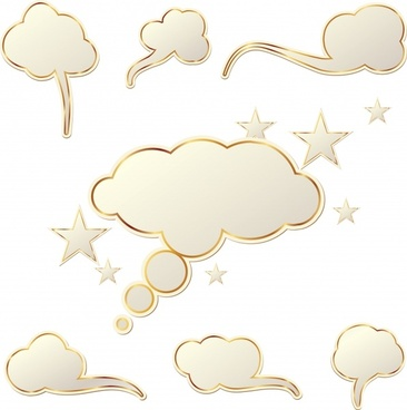 stars dialog clouds vector