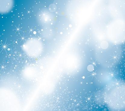 stars in blue sky