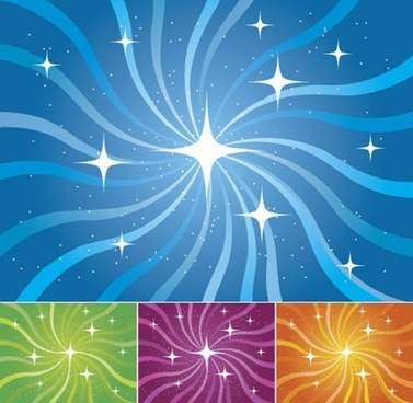 Stars line with the rotation vector background