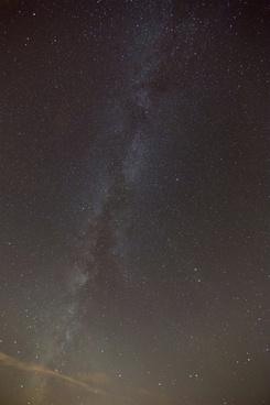 stars milky way night sky clouds