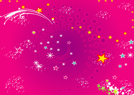 stars purple vector background