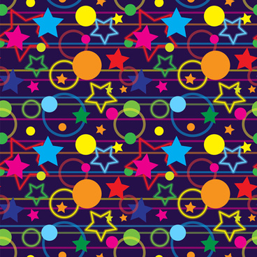 stars with round dot seamless pattern vector