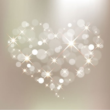 valentine background sparkling bokeh lights heart layout