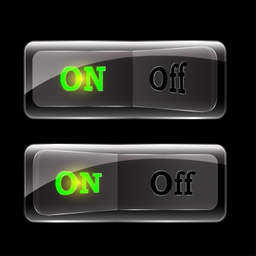 start button templates shiny grey ornament horizontal design