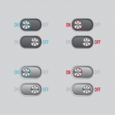 startup buttons vector illustration with horizontal style