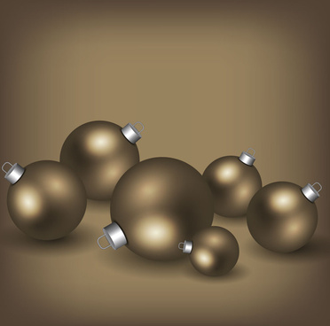 stastic brown christmas balls background