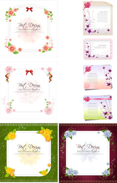 stationery borders fashion vector