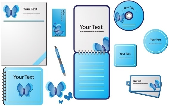 STATIONERY DESIGN VECTORS