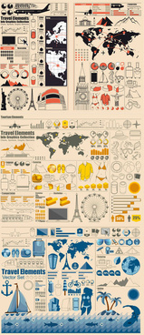 statistical chart elements vector graphic
