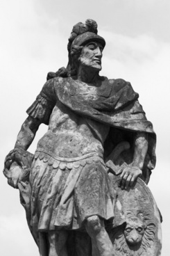 statue of a roman soldier