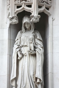 statue on westminster abbey