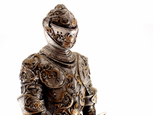 beautiful ancient metallic armour