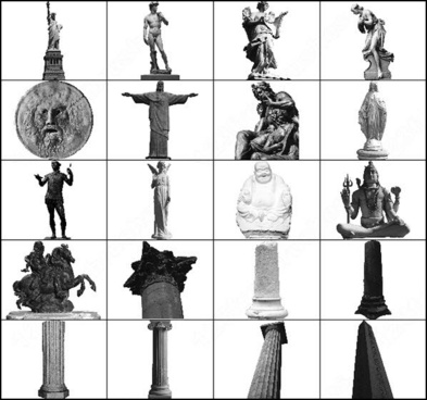 statues and columns brush