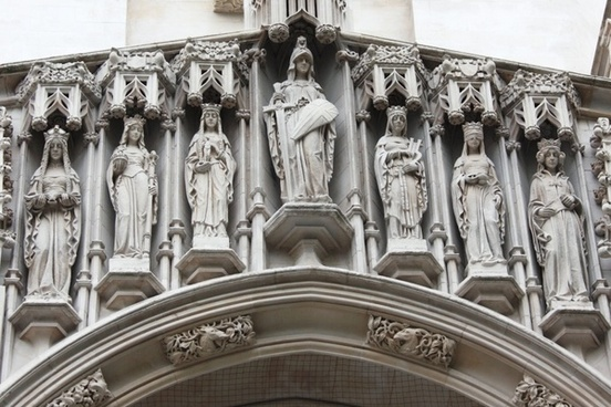 statues on westminster abbey