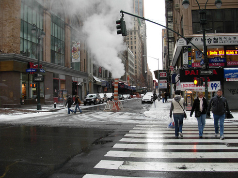 steam from a new york city street