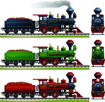 Steam engine vector free vector download (360 Free vector