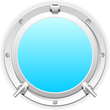 steel porthole elements vector background