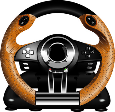 steering wheel video game controller