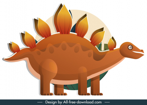 stegosaurus dinosaur icon classic cartoon sketch