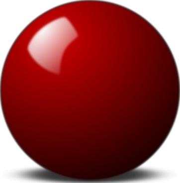 Stellaris Red Snooker Ball clip art