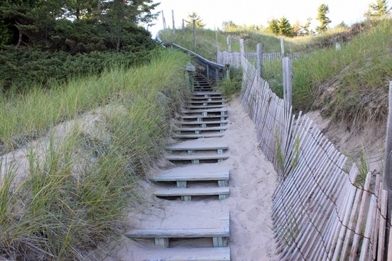 steps at whitefish dunes state park wisconsin