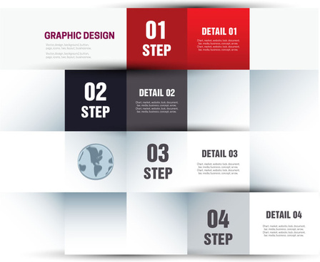 steps infographic diagram design with squares division