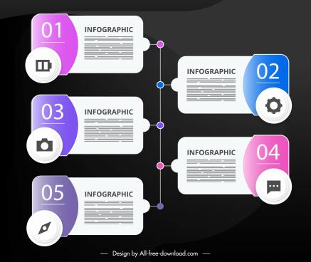 steps infographic template modern flat decor