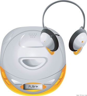 stereo headset vector