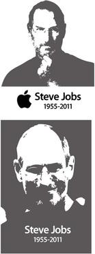 steve jobs black and white free vector