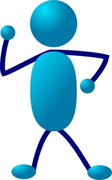 Stick Man Thinking clip art
