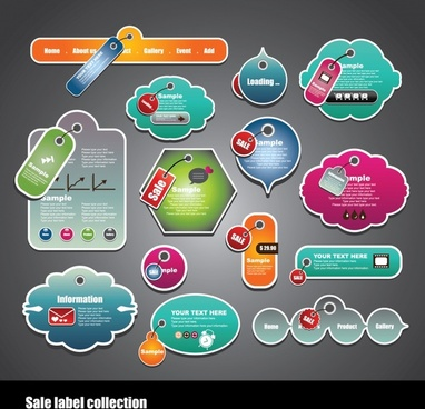 sticker card dialog stickers vector