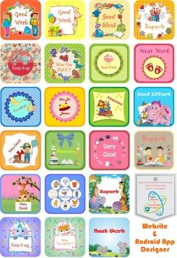 stickers icon design