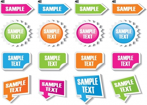 labels templates modern colorful shapes sketch