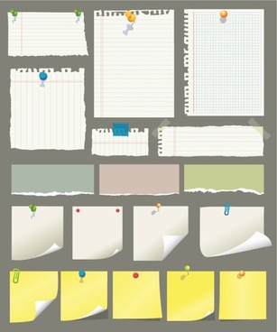 sticky notes and scrap paper vector