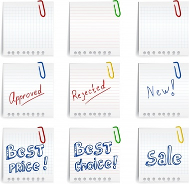 sale sticky note templates bright modern calligraphic decor