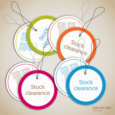stock clearance circle badge templates