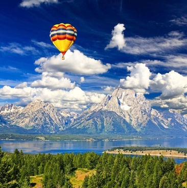 stock photo of a hot air balloon 05 hd picture