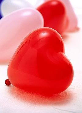 stock photo of a red heartshaped balloon