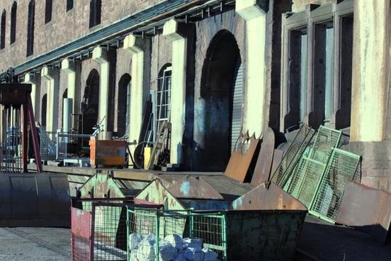 stock scrap at the harbor