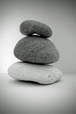stone black and white