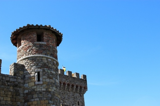 stone castle tower on clear sky