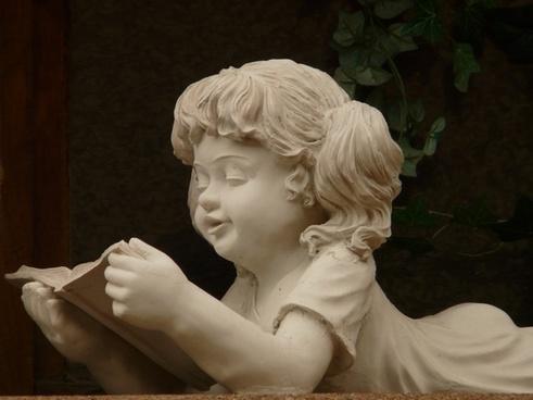 stone figure girl stonemasonry