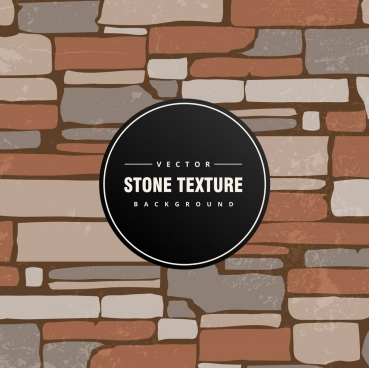 stone wall background colored classical flat design