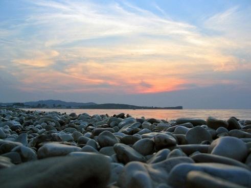 stones sea abendstimmung