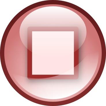 Stop Audio Button Set clip art