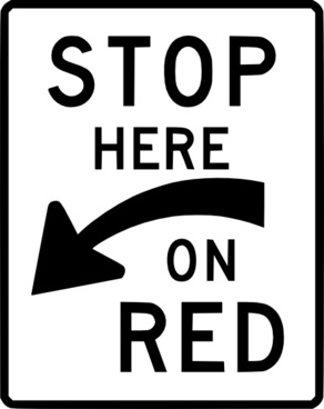 Stop Here On Red clip art