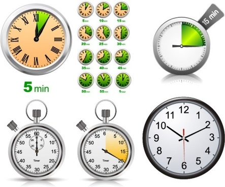 stopwatch clock vector