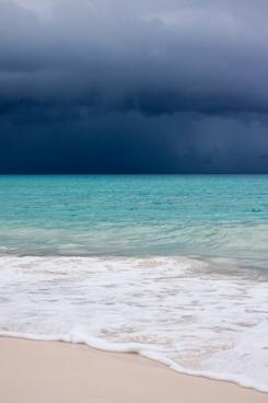 storm above sea