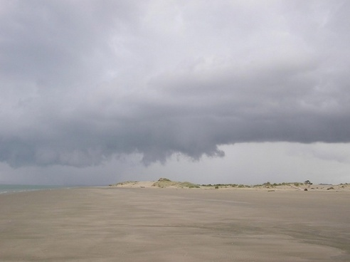 storm coming on beach