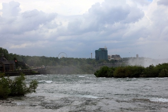 stormy clouds over river in niagara falls ontario canada